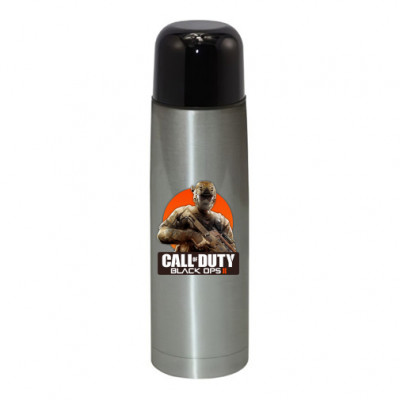 Термос серебристый Call of Duty Black ops -