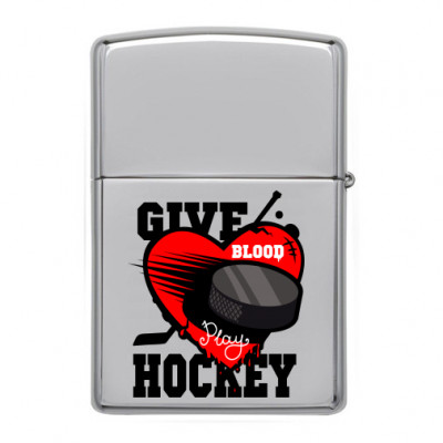 Зажигалка Give blood kockey -