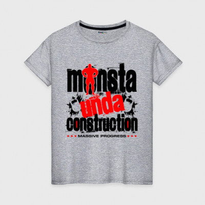 Футболка серая (унисекс) Monsta udna construction -