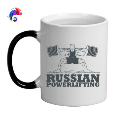 Кружка хамелеон Powerlifting -