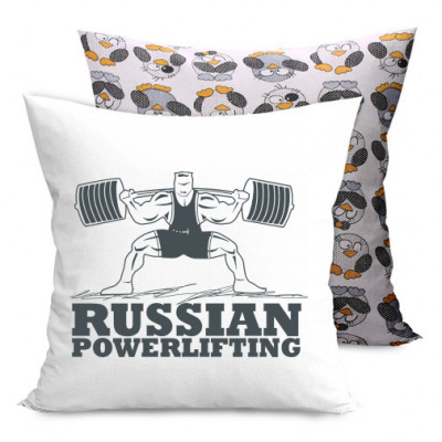 Подушка двухсторонняя с пингвинами Powerlifting -