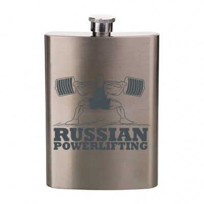 Фляжка плоская Powerlifting -