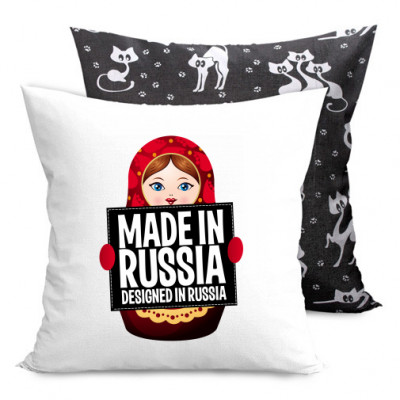 Подушка двухсторонняя с котами Made-in-Russia -