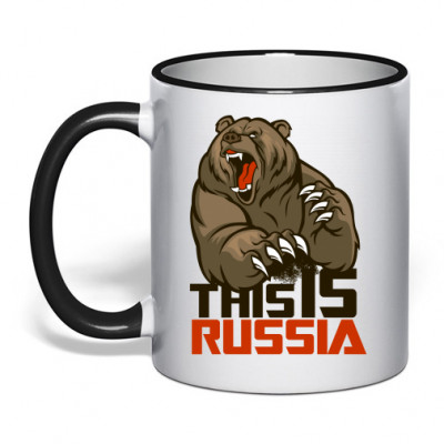 Кружка с ободком This is Russia -